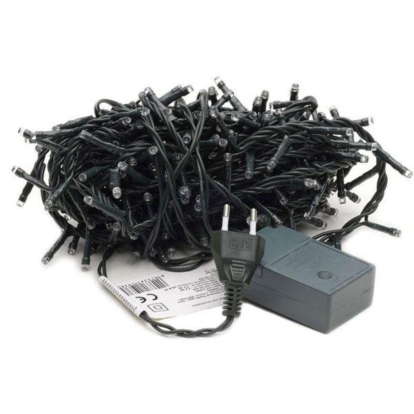 Гирлянда новогодняя 300 led (черная)