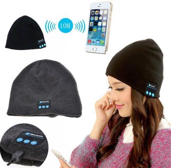Шапка с Bluetooth наушниками и микрофоном