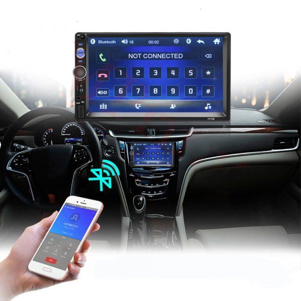 Автомагнитола 2 din сенсорная, Bluetooth + gps антенна