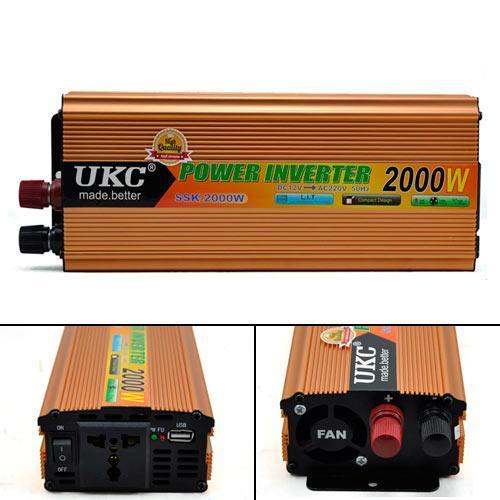 Преобразователь напряжения, инвертор (12-220V) 2000W