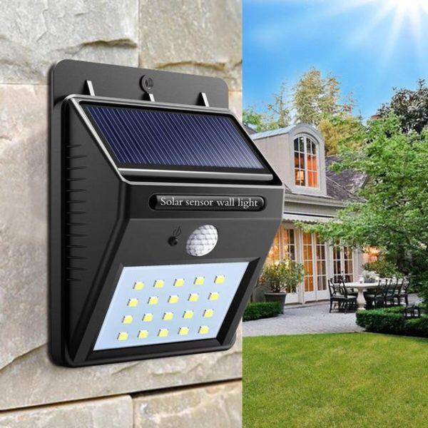 Светильник водонепроницаемый на солнечных батареях с датчиком движения