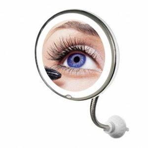 Гибкое зеркало для макияжа с подсветкой