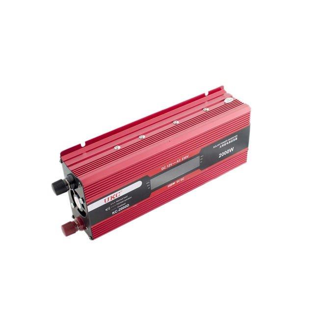 Преобразователь напряжения, инвертор (12-220В) 2000Вт LCD