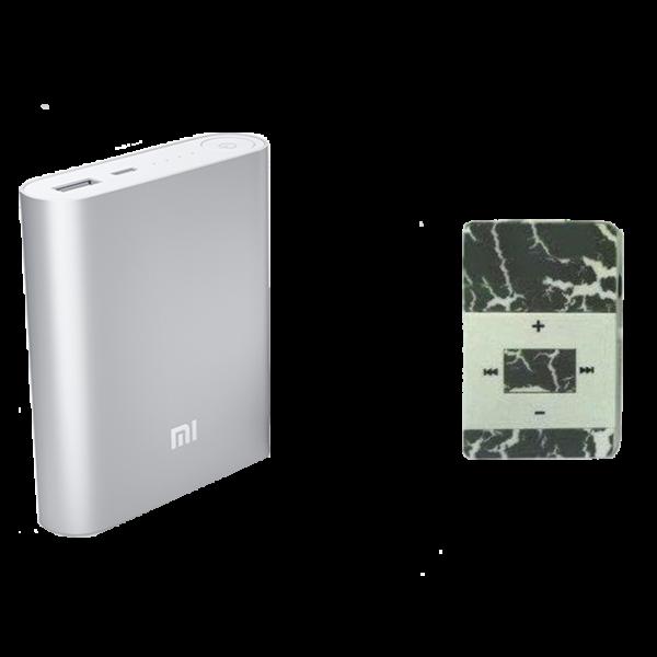 Набор Плеер Mp3 Мрамор + Повербанк Xiaomi Mi 10400 mAh