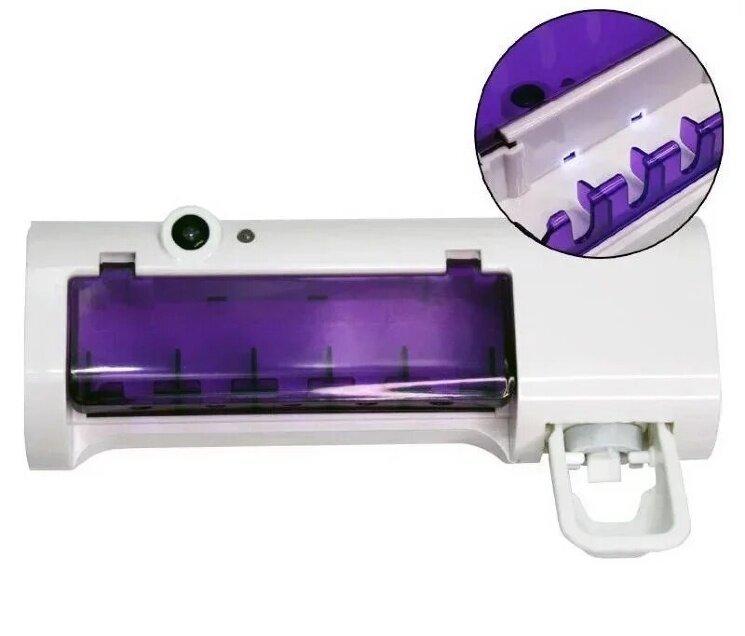 Стерилизатор для зубных щеток на 5 секций с дозатором