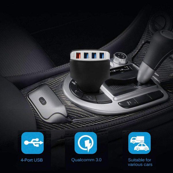 Автомобильное зарядное устройство Car Charger 4 USB