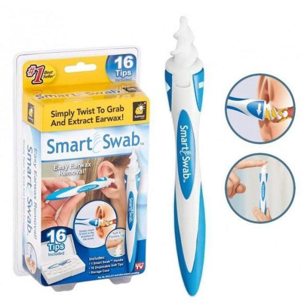 Спиральный очиститель ушей Smart Swab силиконовый