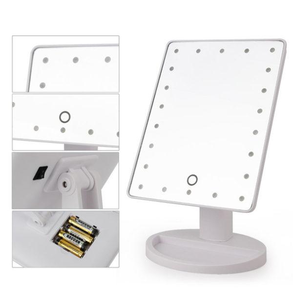 Зеркало для макияжа с LED-подсветкой одинарное