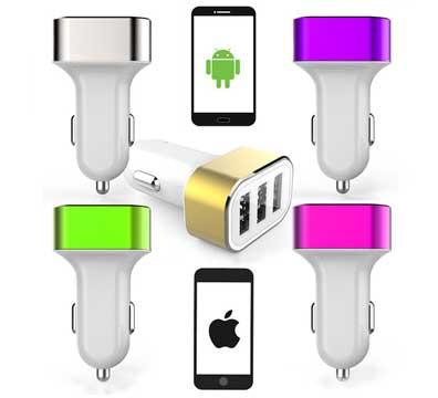 Автомобильное зарядное устройство (3 USB)