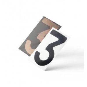 Нанопленка цифра 3 на автономера