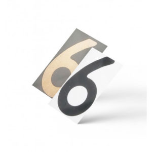 Нанопленка цифра 6 на автономера