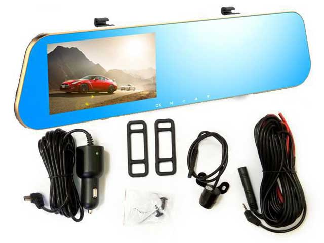 Видеорегистратор-зеркало Mirror DVR 2.0 Full HD + Детское автокресло в подарок