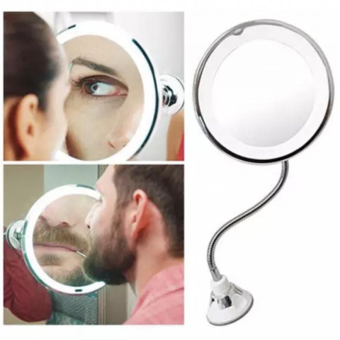 Зеркало для макияжа с LED-подсветкой гибкое