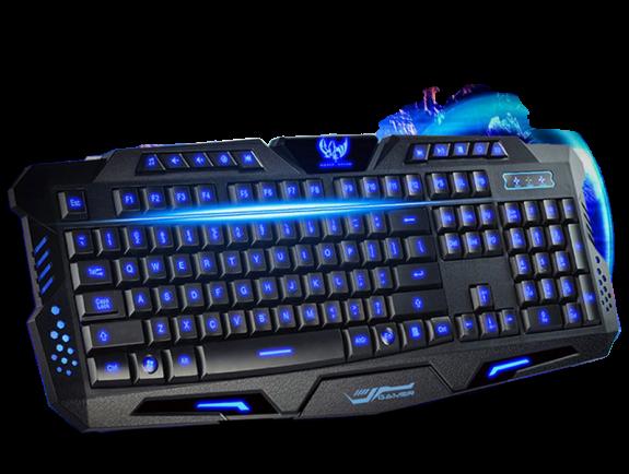 Проводная игровая клавиатура с подсветкой