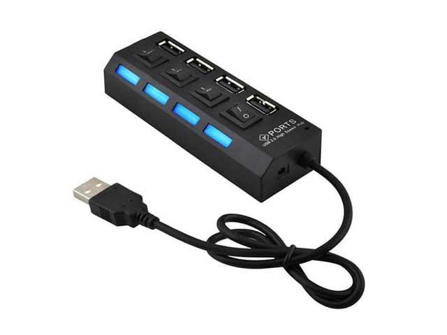 USB хаб, hub 4 порта разветвитель-удлиннитель юсб