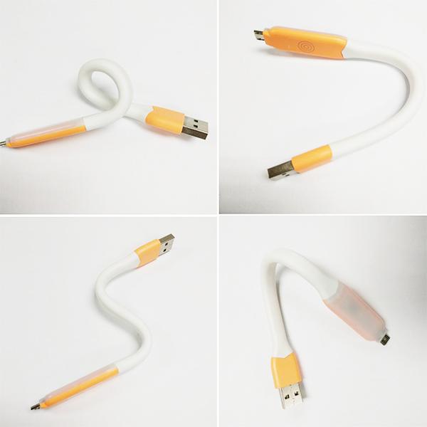 LED светильник-кабель  microUSB, с сенсорной регулировкой яркости